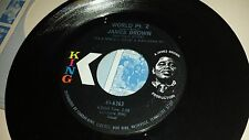 "JAMES BROWN I Cried / World Pt 2 KING 6363 45 VINYL RECORD 7"" FUNK"