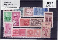 BRASIL 1961 AÑO COMPLETO. Solo Sellos Conmemorativos
