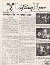 IronMan Lifting News Weightlifting Developing The 2 Hands Snatch Feb 1957,2-57