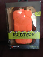 GRIFFIN SURVIVOR MILITARY-DUTY CASE + BELT CLIP FOR New Ipod Touch GB35708