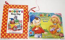 2 x Noddy & Lost Picnic Basket Pop 1994 Enid Blyton Busy Day Up & Play Book