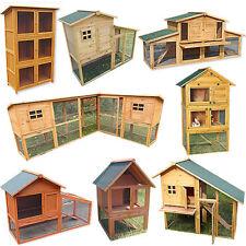 Kaninchenstall Holz Hasenstall Freigehege Hasenkäfig Kleintierauslauf Stall 🐇
