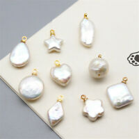 Natural Star Round White Pearl Pendant Diy Jewelry Accessories luxury holiday