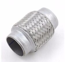 Stainless Steel Exhaust Flexible Pipe 55mm x 100mm Flexi Repair Joint Flexipipe