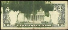 1981 $5 DOLLAR BILL ORIGINAL BEP INK SMEAR ERROR NOTE CURRENCY PAPER MONEY