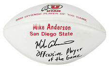 MIKE ANDERSON AWARDED & SIGNED UTAH PAINTED FOOTBALL vs SAN DIEGO STATE 1999 COA