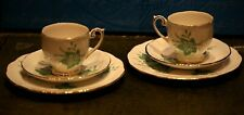 "Vintage Queen Anne ""Napoli"" Bone China 2 cups, 2 saucers and 2 side plates"