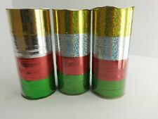 Curling Ribbon (3) 80ft Tubes Each Tube 20ft/Color Christmas Crafts Wrapping 5E2