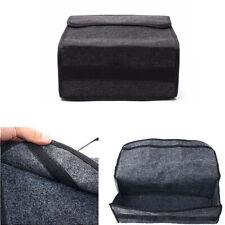 Gray Woolen Felt Car Trunk Organizer Foldable Storage Box Cargo Bag Portable