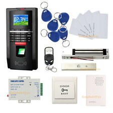 Biometric Fngerprint Access Control Systems 600lbs Magnetic Lock Remote Control