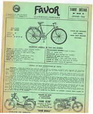 ANCIENNE BROCHURE TARIF FAVOR BENELLI 1962