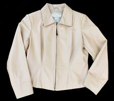 Women's Preston & York Petites Lamb Skin Leather Motorcycle Jacket Coat Size Ps