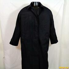 DSCP Military US Army 1998 Long RAINCOAT Trench Coat Womens size 18 Black