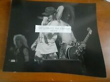 Guns N' Roses Axl Rose Slash Live On Stage 8X10 Glossy Black&White Photo! Rare