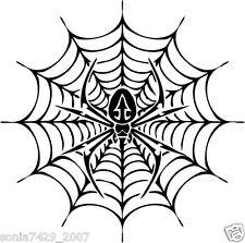 "Spider Web Premium Vinyl Decal Sticker Car Truck Halloween Party Spooky 5"""
