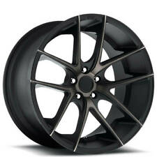 "(4) 18"" Staggered Niche Wheels M130 Targa Black Machined Rims(B45)"