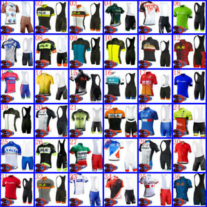 Mens Cycling Jersey Bib Short Set Cycling Jersey Short Sleeve Bicycle Outfits