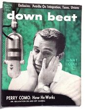 Vtg May 16, 1957 DOWN BEAT (Perry Como: How He Works) Music MAGAZINE