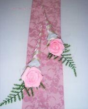 10 x Tischdekoration rosa zur Hochzeit Verlobung Kommunion Konfirmation Taufe Ti