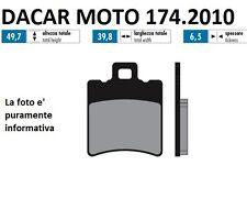 174.2010 PLAQUETTE DE FREIN SINTERED POLINI PIAGGIO : NRG MC2 - NRG MC3 H2O