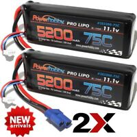7600mah 7.4v 2s 75c LiPo Battery with Hardwired Ec5 Connector PHB2S760075CEC5HCS