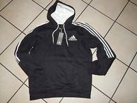 Adidas Kapuzenpullover Hoody Hoodie Herren Gr.L schwarz weiß  Neu mit Etikett