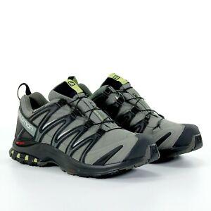 Salomon Mens XA Pro 3D Trail Running Low Top Shoes Black Castor Grey Size 11 New