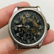RARE CYMA MILITARY WWII Black Swiss Watch Vintage Old Parts/Repair