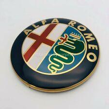 ALFA ROMEO emblem 74 mm Gold ALUMINIUM BADGE EMBLEM 147 156 159 166