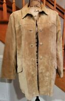 NWT Classic! Women's Eddie Bauer Seattle Suede Washable Leather Jacket Size L