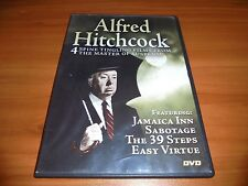 Jamaica Inn/Sabotage/39 Steps/Easy Virtue (DVD 2005) Used Alfred Hitchcock