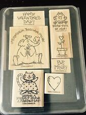 "STAMPIN' UP 2002  SET of 7 Wood Mounted Rubber Stamps ""HAVE A HEART"""
