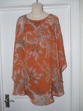 Ladies Atmosphere Paisley Print Blouse Dress Size 10 Floaty Long Top