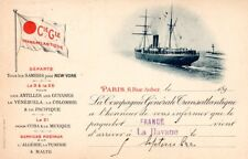 1899 French Line La France Havana Arrival Postcard - Nautiques sHiPs Worldwide
