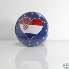 2 Badges Europe [25mm] PIN BACK BUTTON EPINGLE Croatie