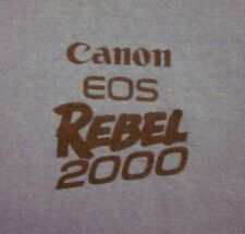CANON EOS REBEL 2000 photography tee 35mm camera 1990s logo T shirt XL