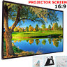 """100"""" Inch Projector Projection Screen 16:9 White Matte 3D HD Home Cinema Theater"""