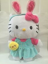 Hello Kitty Sanrio Bunny Chick Large Plush 24 Inch Bow Stands Dress Headband New