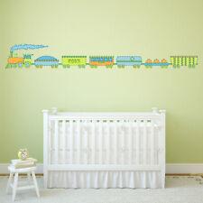 Green Blue Train Childrens Wall Sticker WS-47158