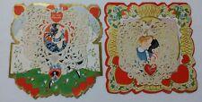 Lot of 2 Large Vintage Antique Valentine Cards 1920-1930 Whitney Carrington
