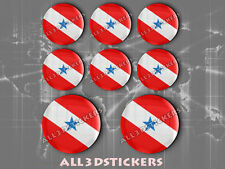 8 x 3D ROUND Stickers Resin Domed Flag Pará - Adhesive Decal Vinyl