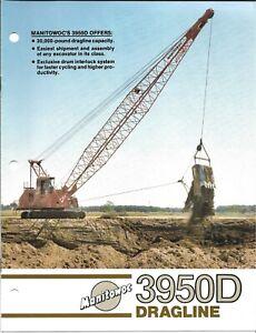 Equipment Brochure - Manitowoc - 3950D - Dragline - 1985 (E6878)