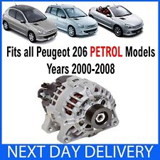 PEUGEOT 206 & CC, SW 1.1 1.4 1.6 2.0 PETROL 2000-2009 NEW ALTERNATOR 2A/C 2D 2E