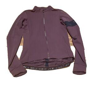 Rapha Women's Training Jacket Souplesse Thermal Jersey XS Burgundy/Navy EUC