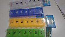 Pastillero Semanal en ESPAÑOL caja de Pastillas organizador pastillas