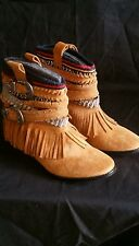 ZARA FLAT ETHNIC ANKLE BOOTS , SIZE UK 5 / EUR 38 / USA 7  1/2.
