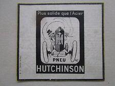 9/1924 PUB HUTCHINSON PNEU TYRE PNEUMATIQUE AVION AUTOMOBILE MICH CHIEN DOG AD