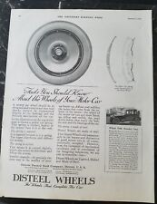 1920 Detroit pressed steel Co DISTEEL Wheels complete the car ad