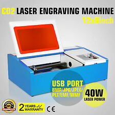 40W CO2 Laser Graviermaschine Gravurmaschine Carving Cutter Engraving USB
