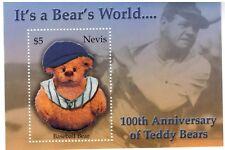 """Nevis - Teddy Bears """"Its A Bears World"""" Stamp - Souvenir Sheet MNH"""
